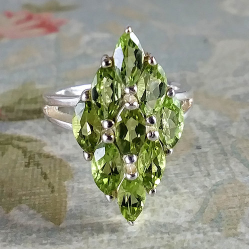 Peridot Sterling Ring