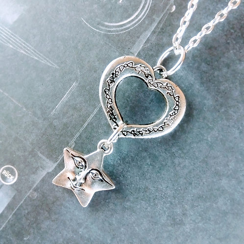 Heart Happy Star Necklace