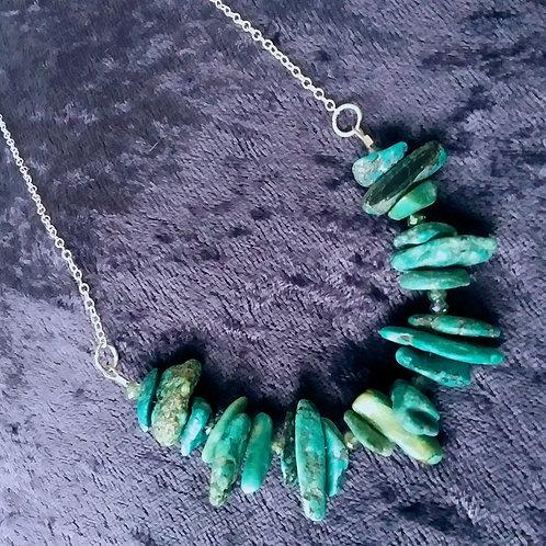 Xtra Genuine Turquoise Slice Necklace