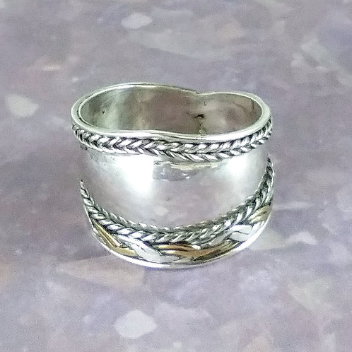 Wide Sterling Band Ring