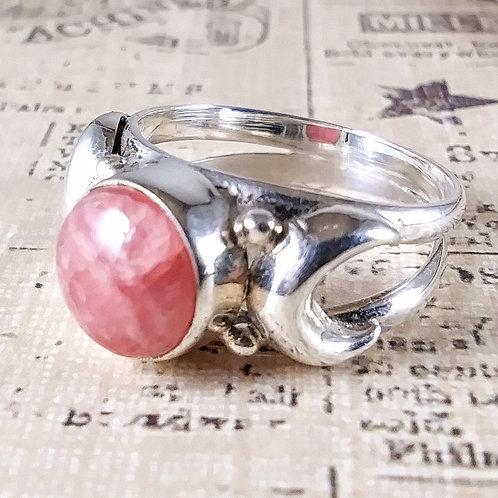 Rhodochrosite Sterling Ring