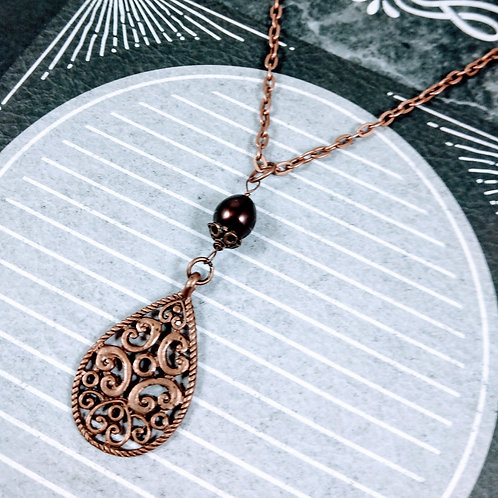 Fresh Water Pearl Copper Necklace