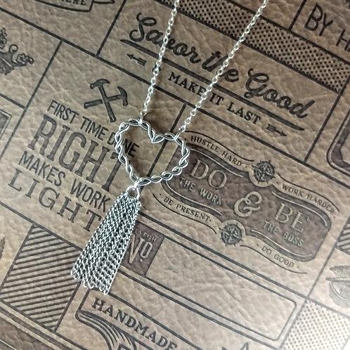 Heart on the Fringe Necklace