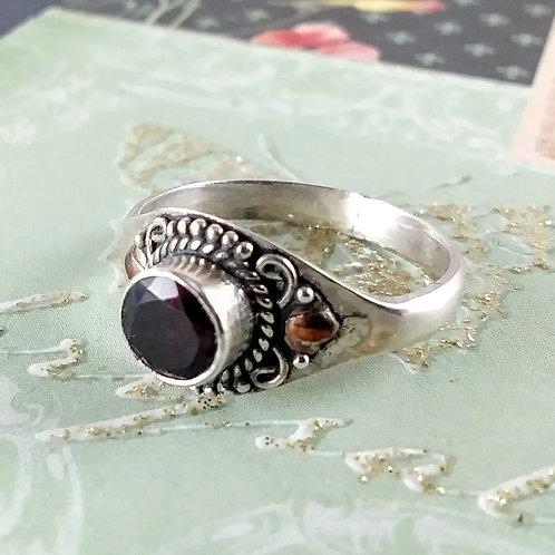 Dark Garnet Sterling Ring