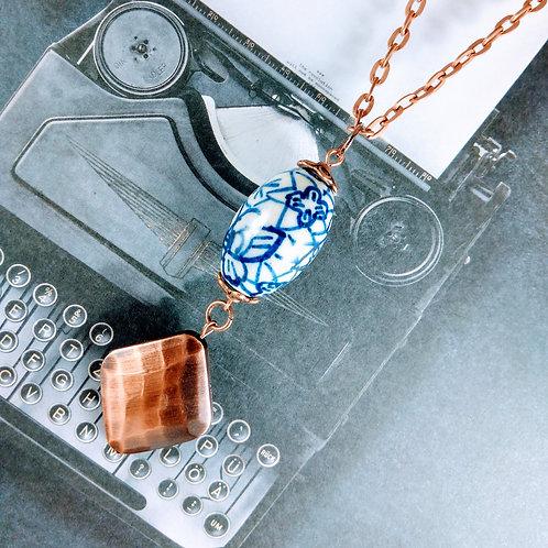 Porcelain Copper Necklace
