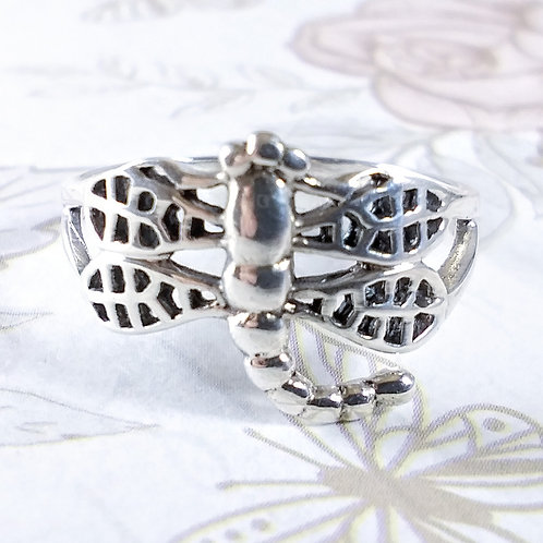 Dragonfly Sterling Ring
