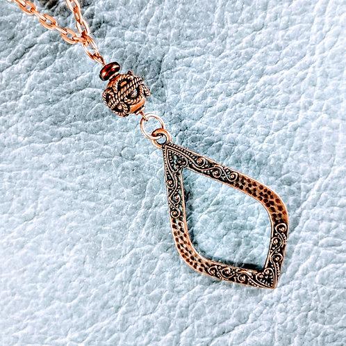 Copper Teardrop Necklace