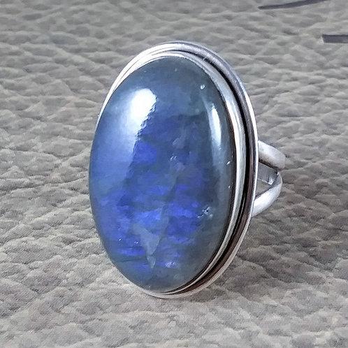 Blue Labradorite Sterling Ring
