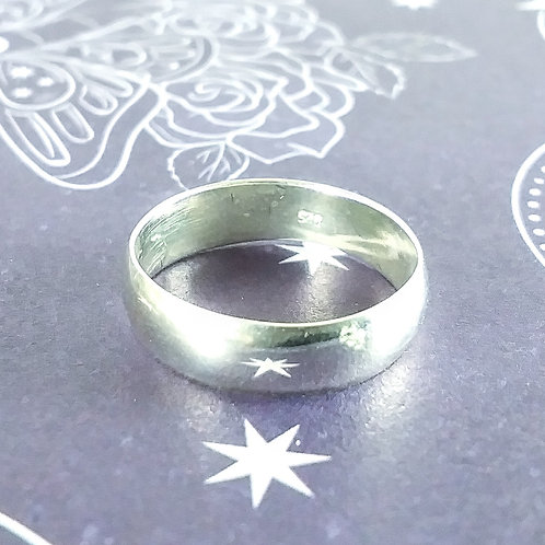Rounded Sterling Band Ring