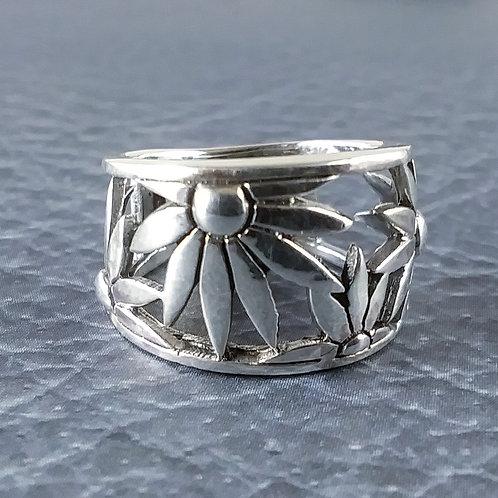 Flower Sterling Band Ring