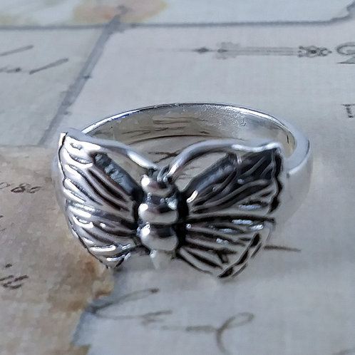 Butterfly Sterling Ring