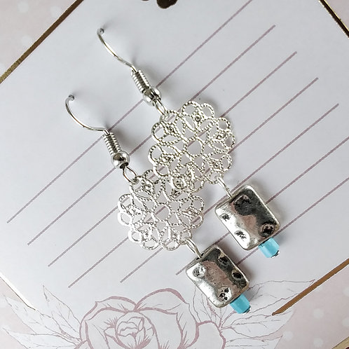 Filigree Turquoise Earrings
