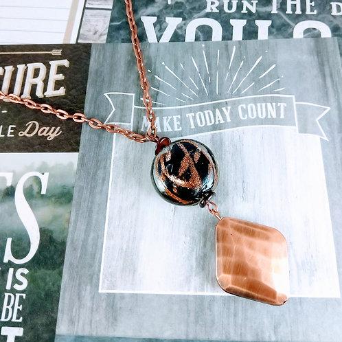 Black Sparkle Copper Necklace