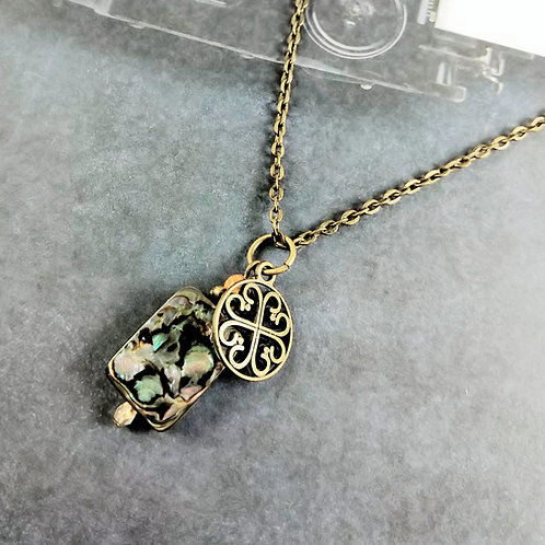 Bronze Abalone Celtic Necklace