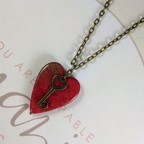 Bronze Key To My Heart Necklace