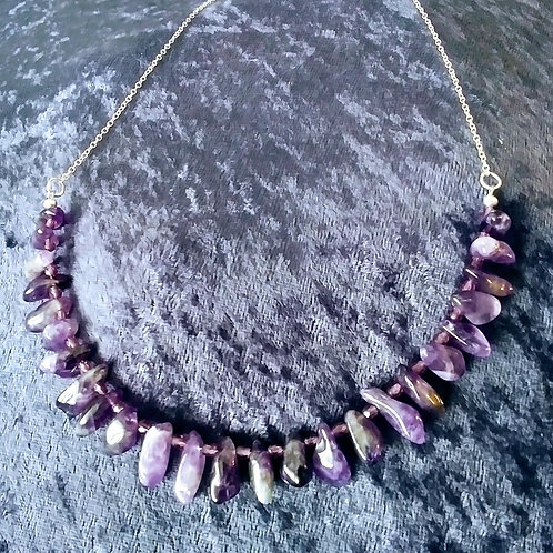 Xtra Amethyst Dangle Necklace