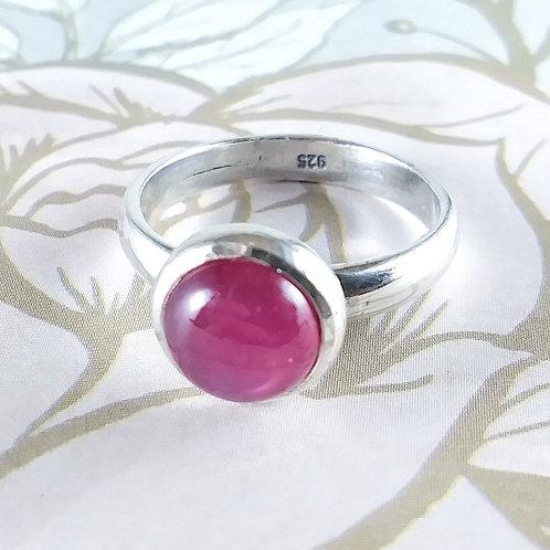 Pink Garnet Sterling Ring