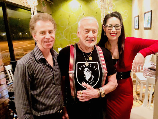 Buzz Aldrin with Safia Valines and Tom C
