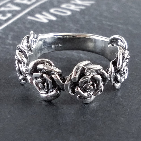 Roses Sterling Ring