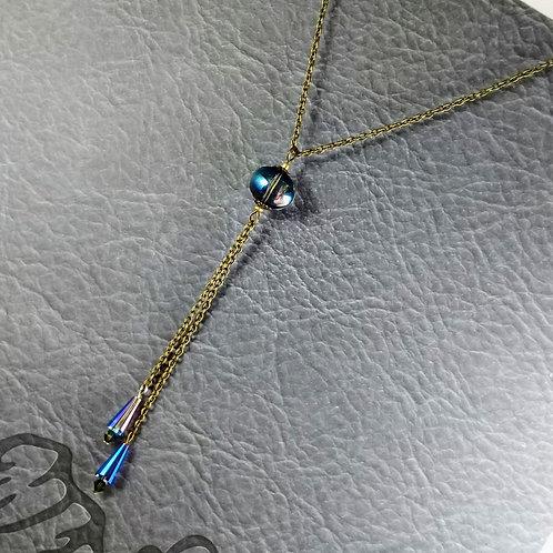 Blue Bronzed Necklace