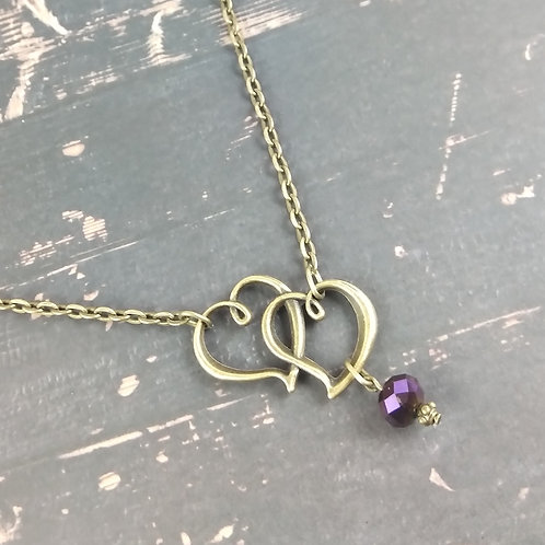 Bronze Floating Heart Necklace