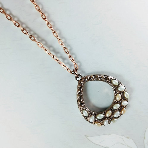Pearl Pear Copper Necklace