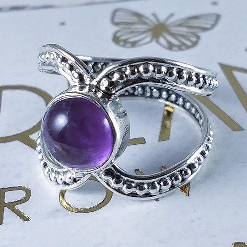 Amethyst X Sterling Ring