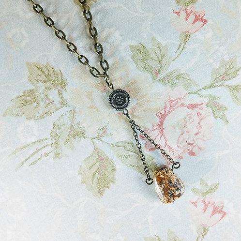 Picture Jasper Bronze Necklace