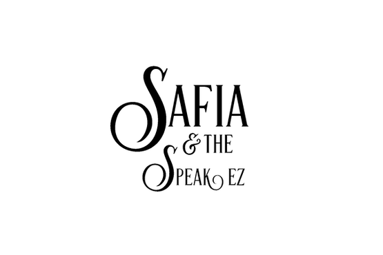 Safia and the Speak EZ logo