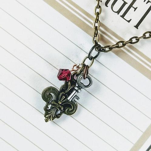Fleur Key Bronze Necklace