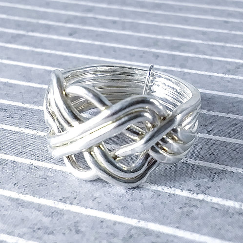 Sterling Puzzle Ring