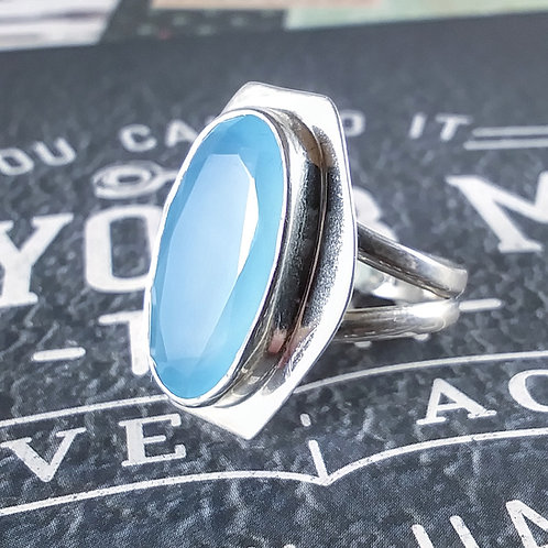 Blue Chalcedony Sterling Ring