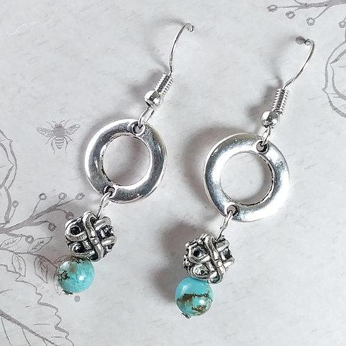 Celtic Turquoise Earrings