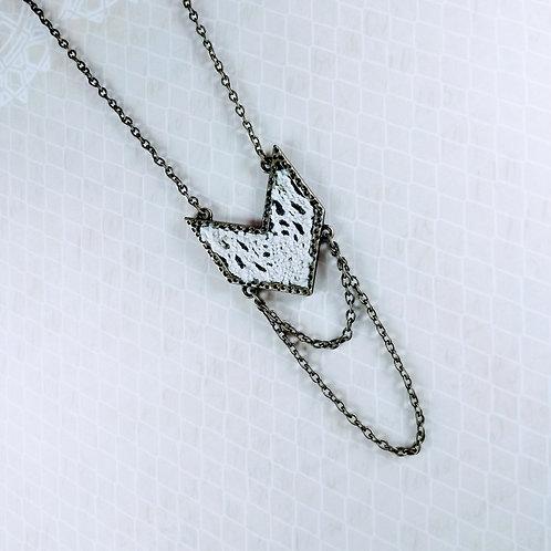 Bronze Chevron Lace Necklace