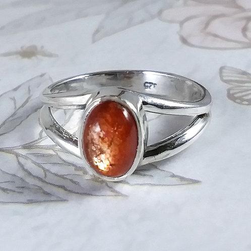 Sunstone Sterling Ring