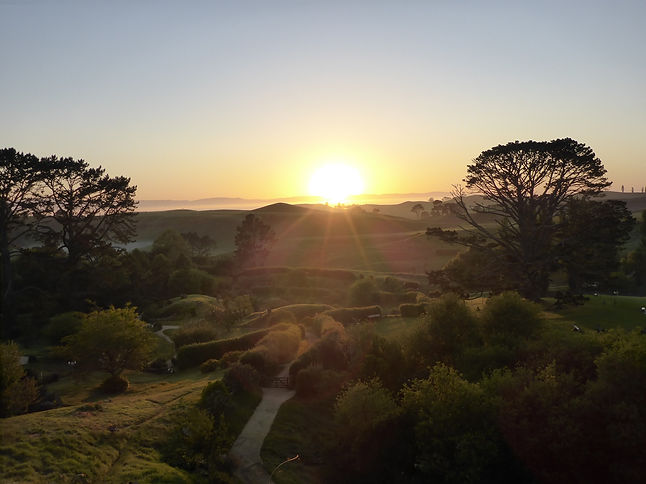 Sunrise at Hobbiton