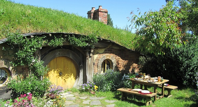 The Shire Hobbiton Movie Set