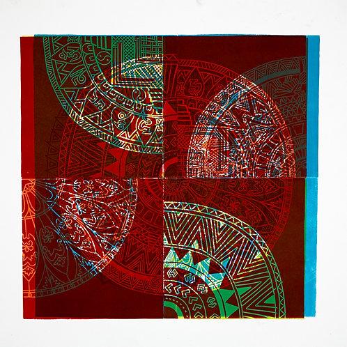 'Mandala' Linocut Print (+More Colours Available)
