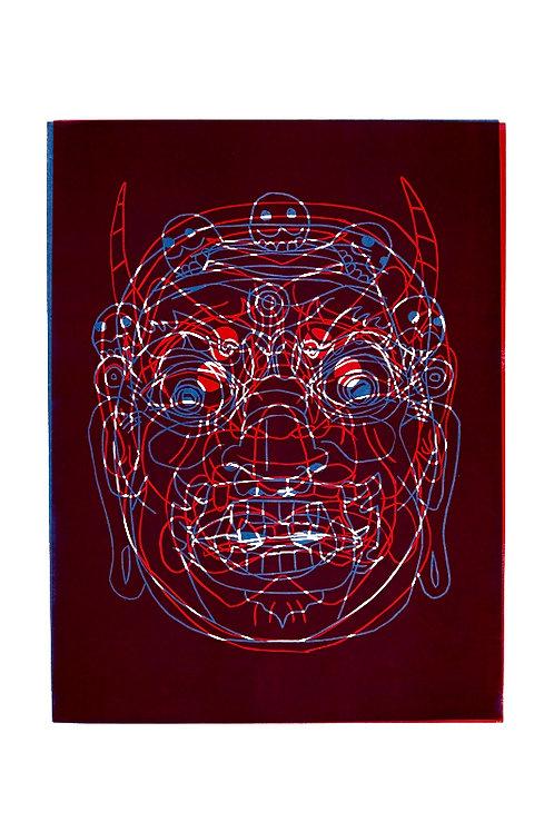 'Mask' Linocut Print (+ More Colours Available)