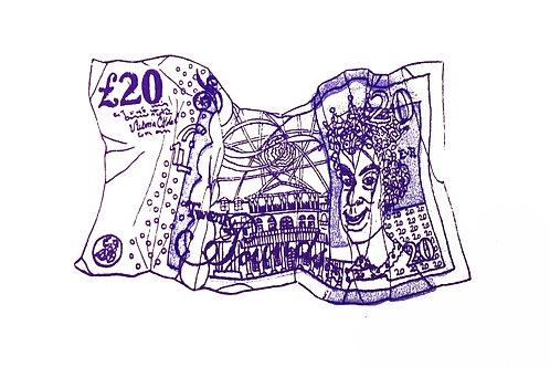 'Twenty Pounds' Screenprint