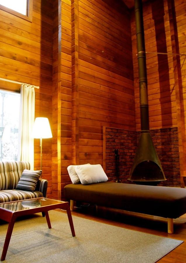 室内の暖炉