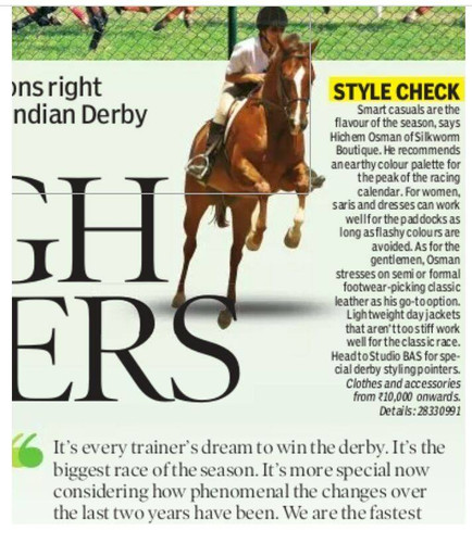 Horse sense! Derby style from Studio BAS