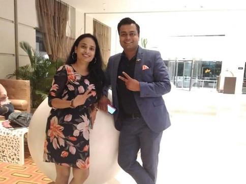 with Motivational Speaker Vikash Kishore Singh