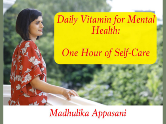 Daily Vitamin for Mental Health: One hour of self-care