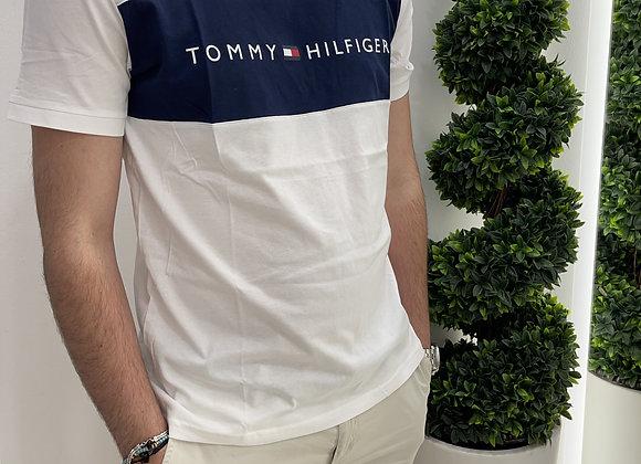 T-shirt Tommy Hilfiger Bianco-Blu