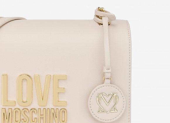 LOVE MOSCHINO Avorio borsa in spalla Gold