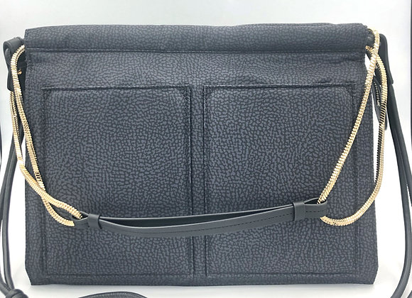 Borbonese - Centerfold Bag Medium blu