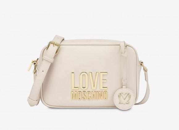 LOVE MOSCHINO Avorio Camera Bag Gold