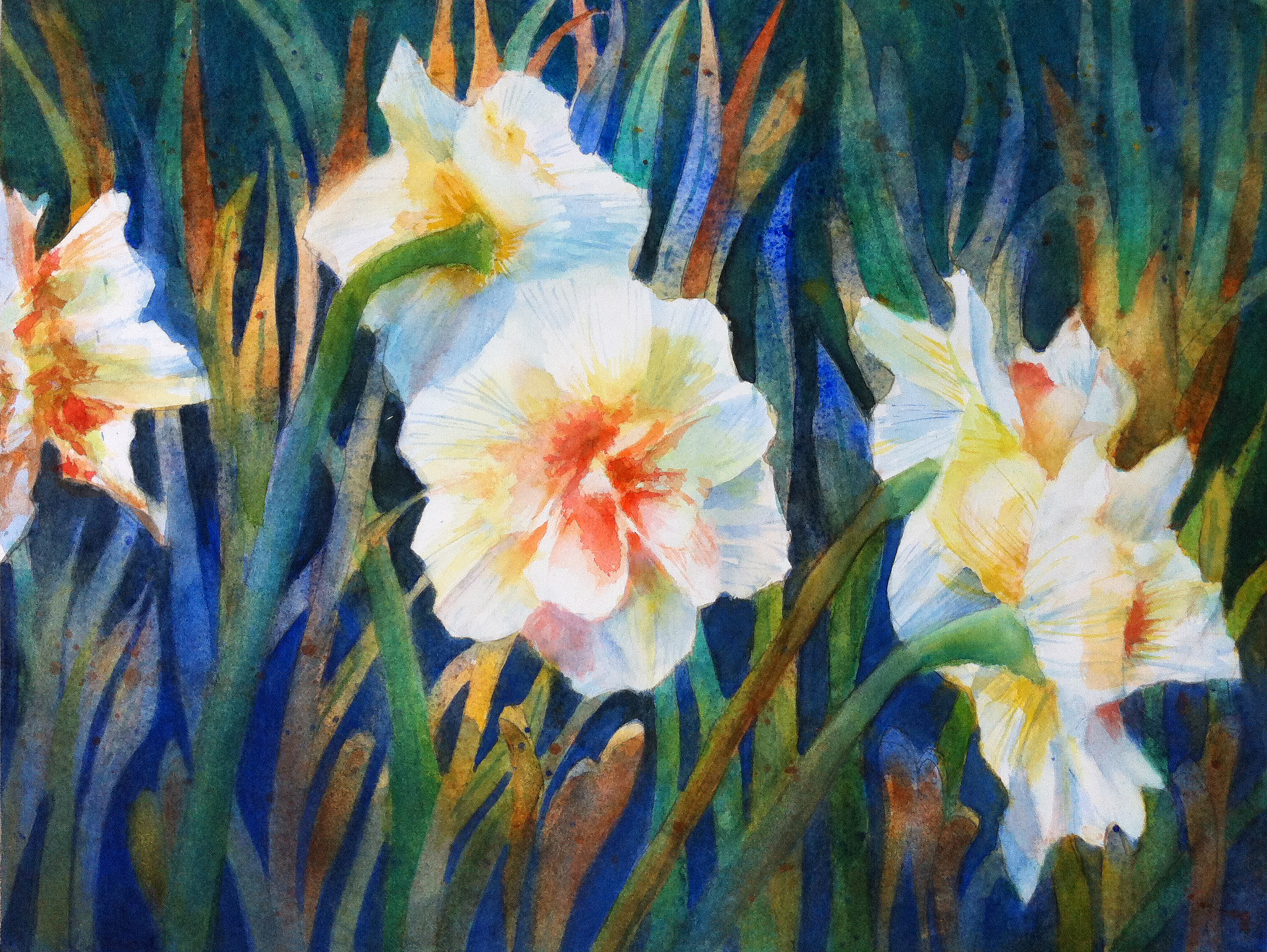 Double Daffodils 12 x 16 $150