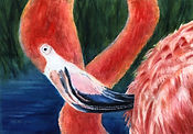 Flamingle with Me 14 x 20 $100